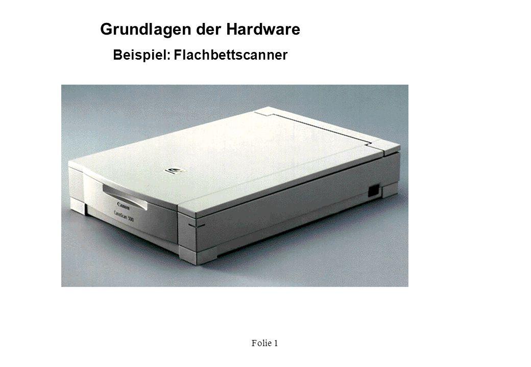 Grundlagen der Hardware Beispiel: Flachbettscanner
