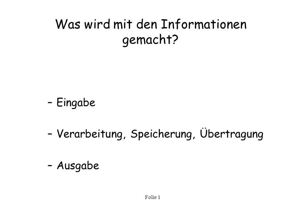Was wird mit den Informationen gemacht
