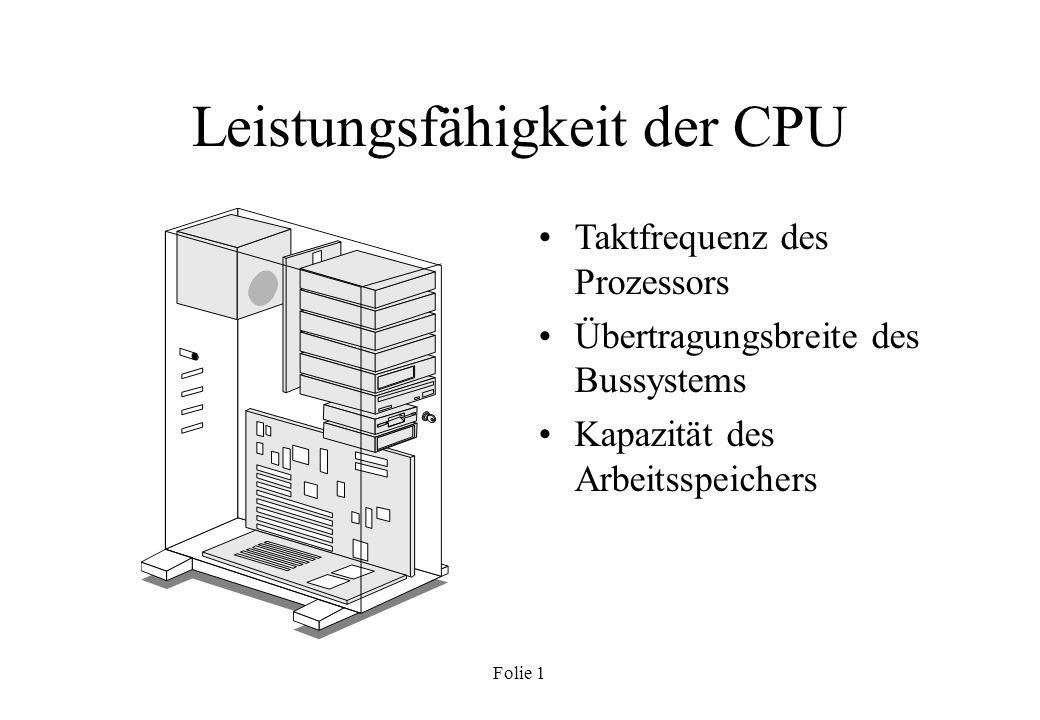 Leistungsfähigkeit der CPU