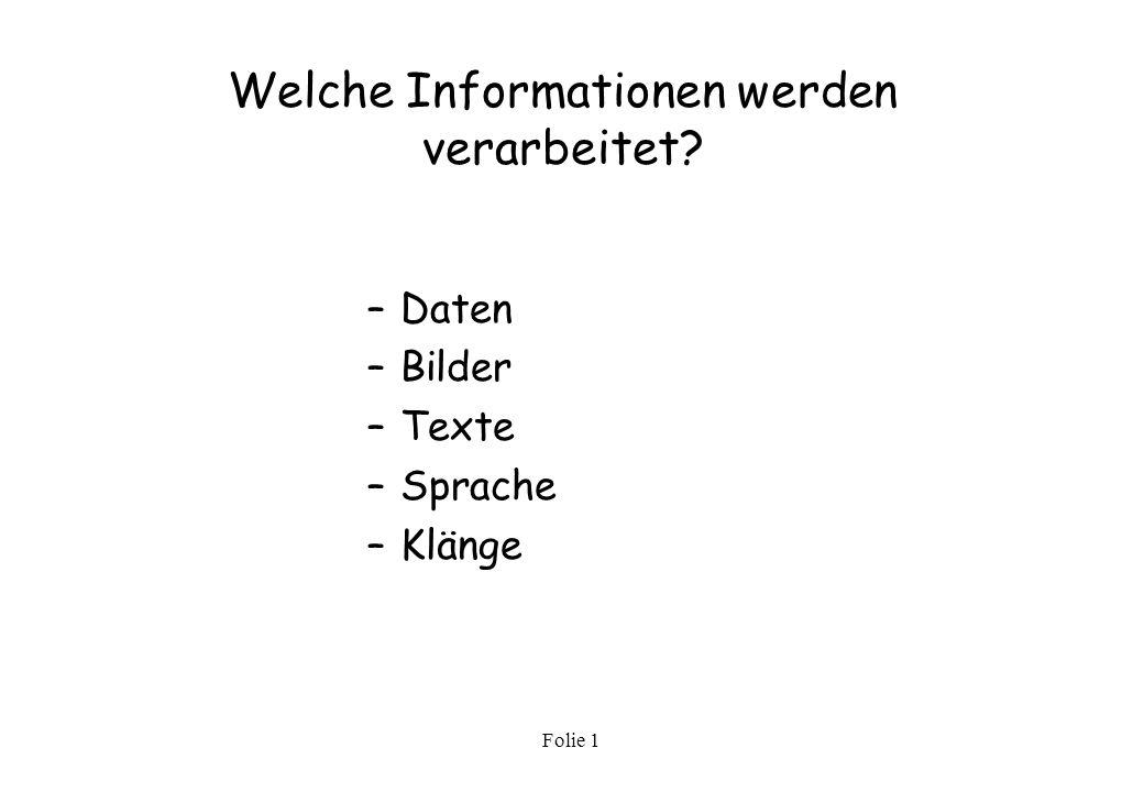 Welche Informationen werden verarbeitet