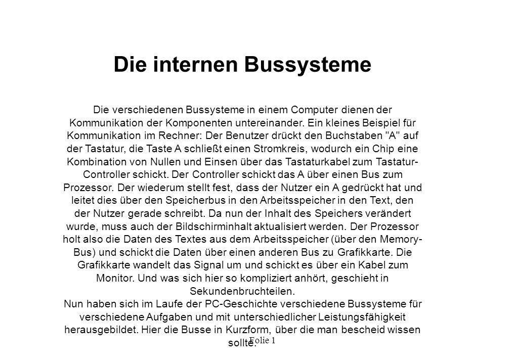 Die internen Bussysteme