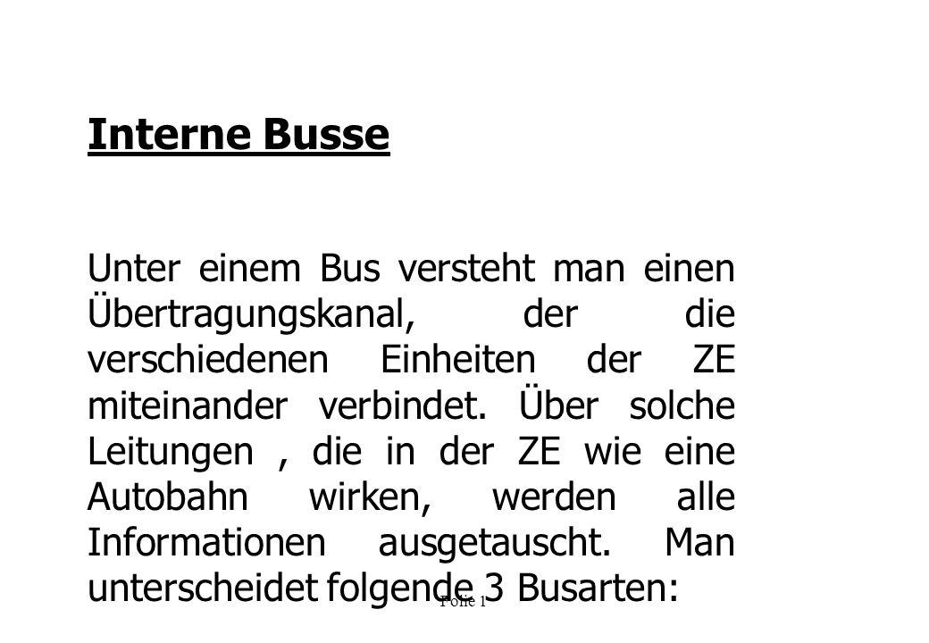 Interne Busse