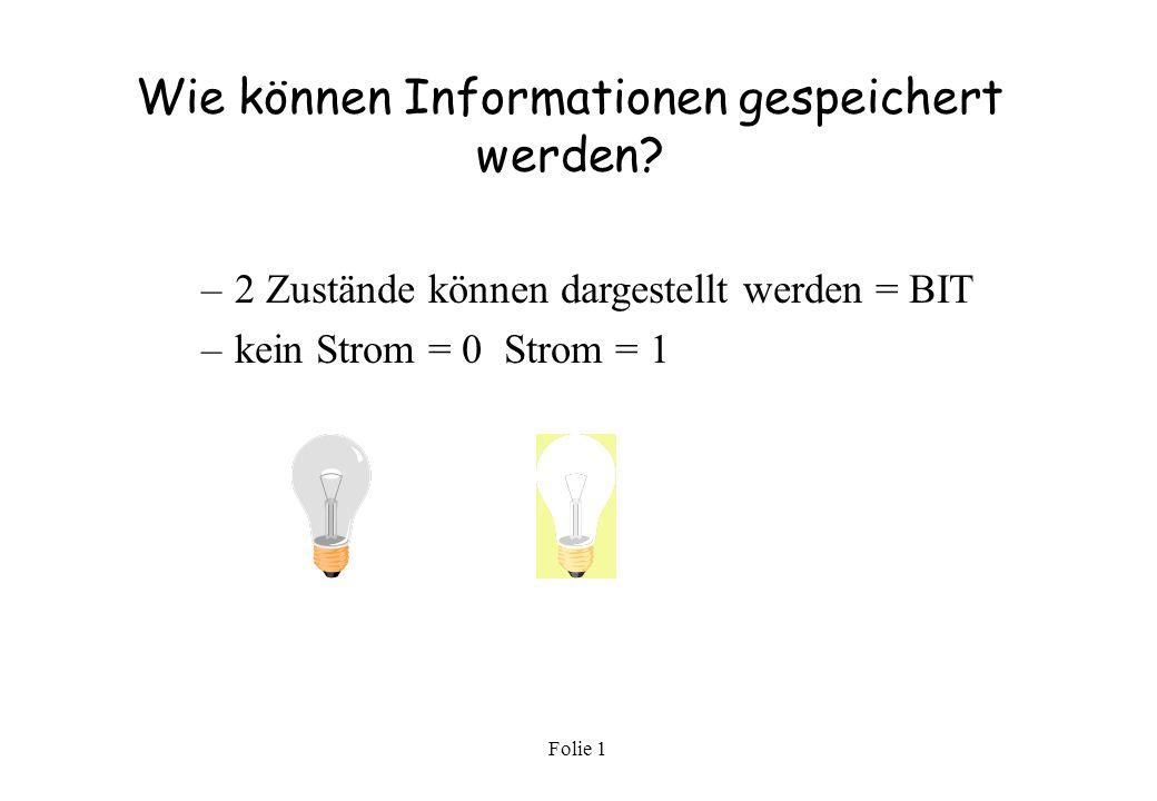 Wie können Informationen gespeichert werden