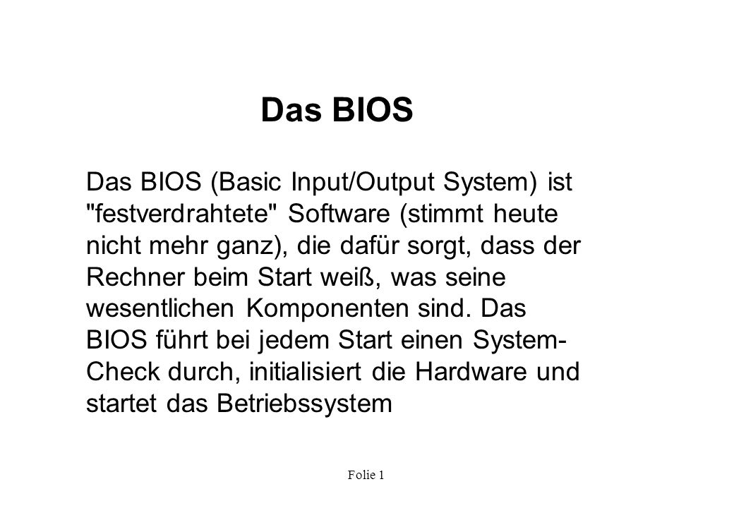 Das BIOS