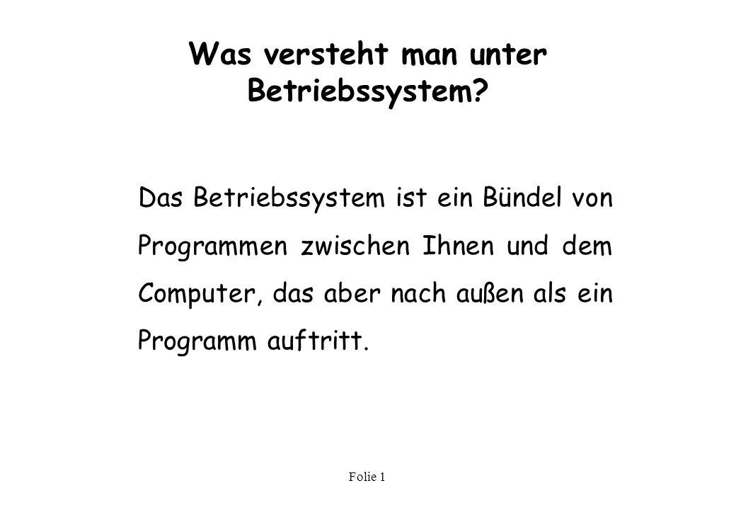Was versteht man unter Betriebssystem