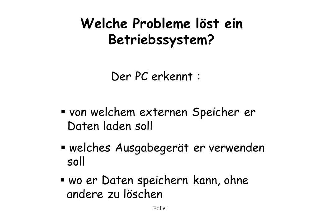 Welche Probleme löst ein Betriebssystem