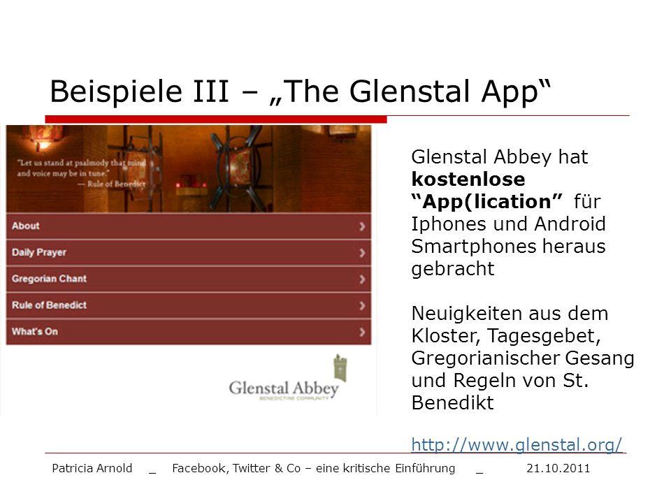 "Beispiele III – ""The Glenstal App"