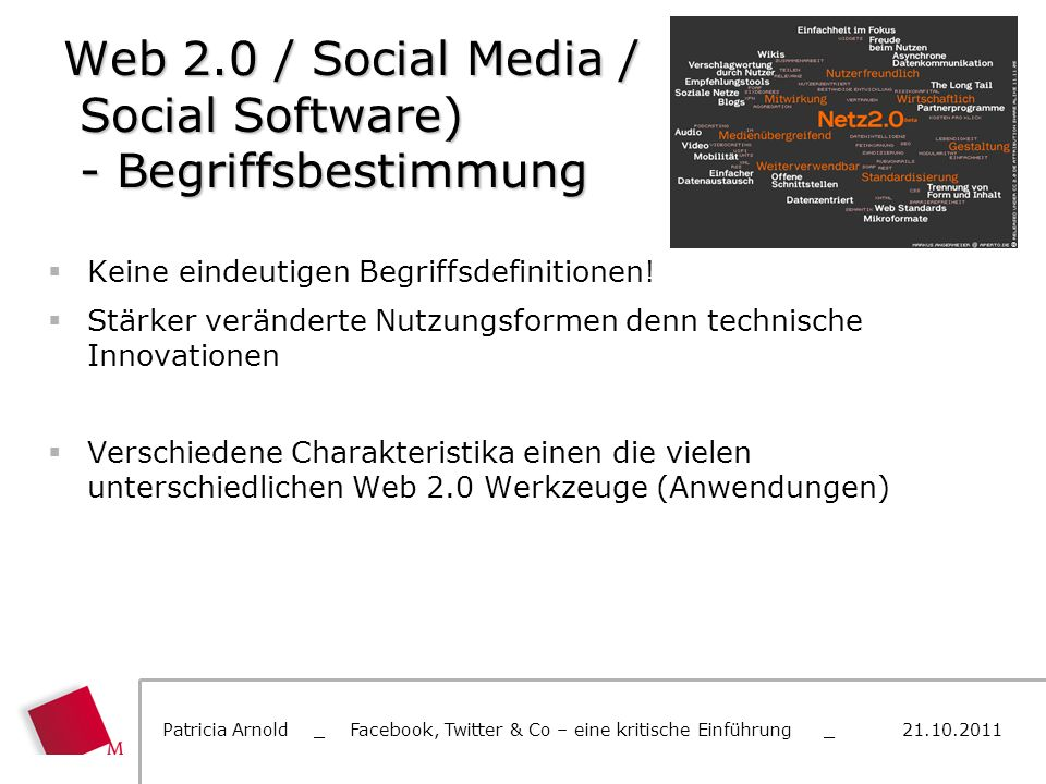 Web 2.0 / Social Media / Social Software) - Begriffsbestimmung
