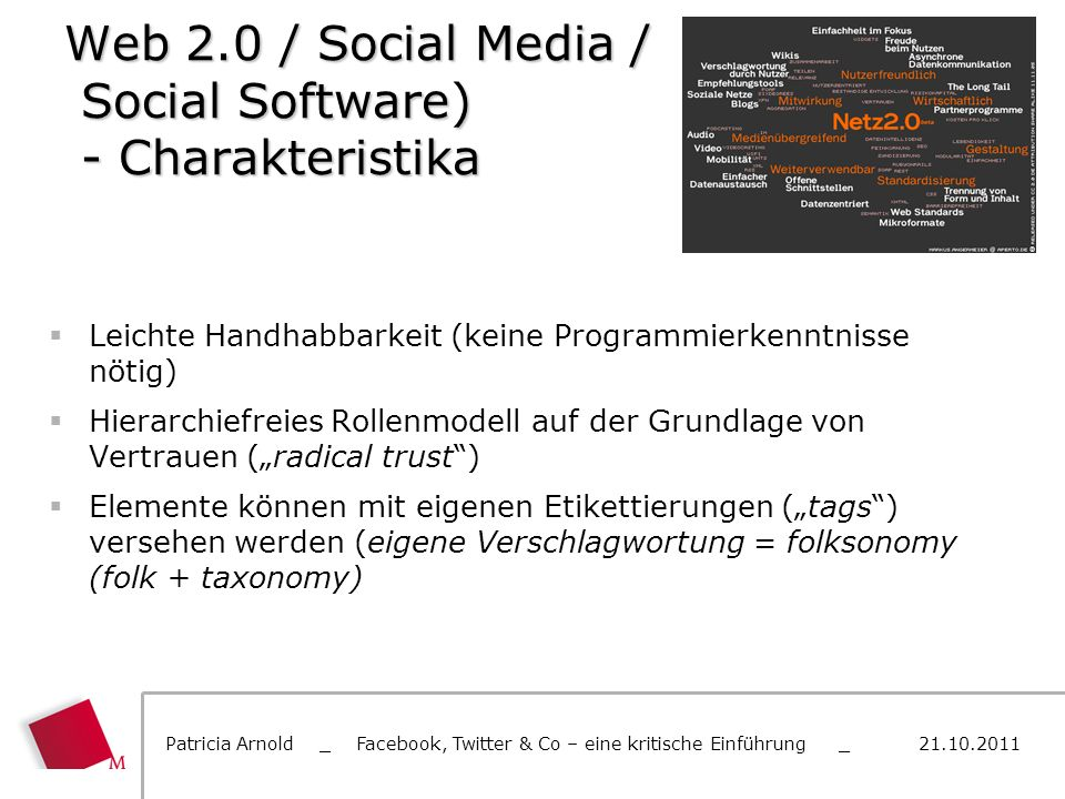 Web 2.0 / Social Media / Social Software) - Charakteristika
