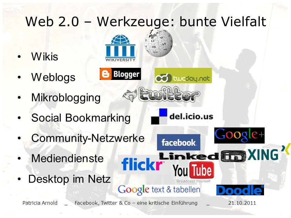Web 2.0 – Werkzeuge: bunte Vielfalt
