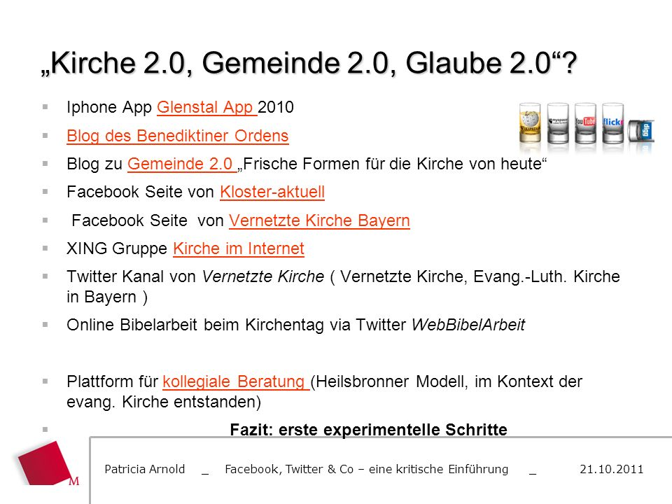 """Kirche 2.0, Gemeinde 2.0, Glaube 2.0"
