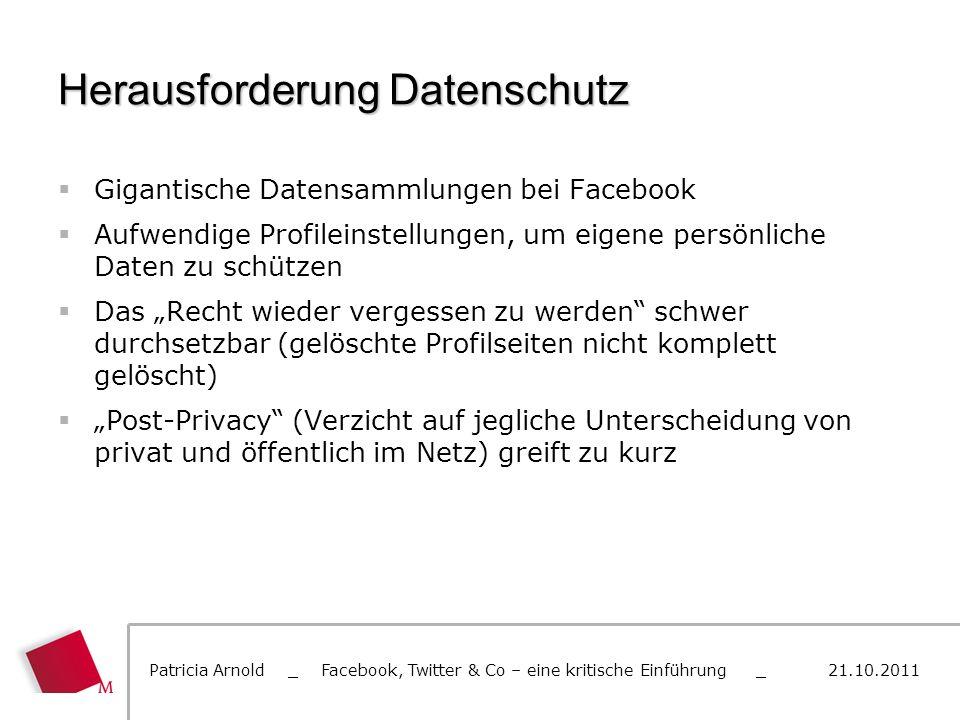 Herausforderung Datenschutz