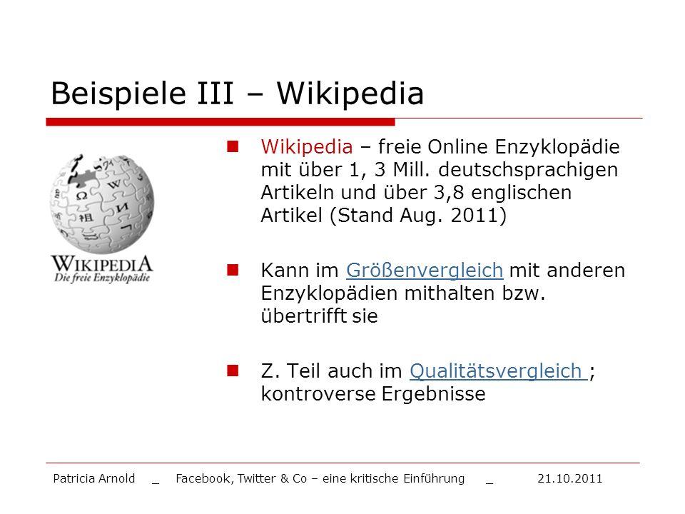 Beispiele III – Wikipedia