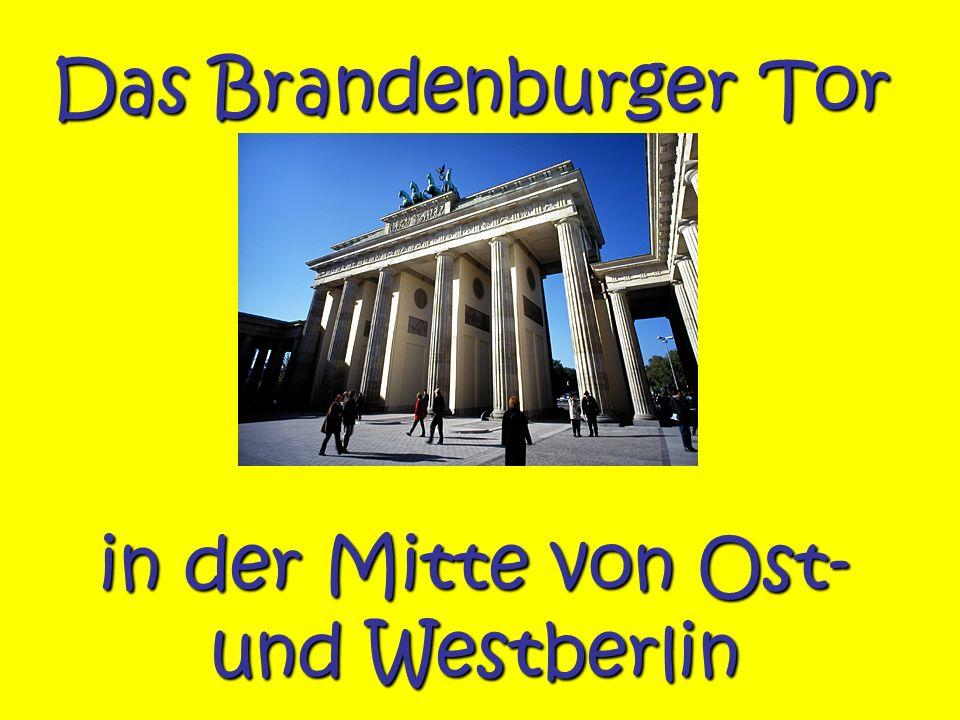 in der Mitte von Ost- und Westberlin