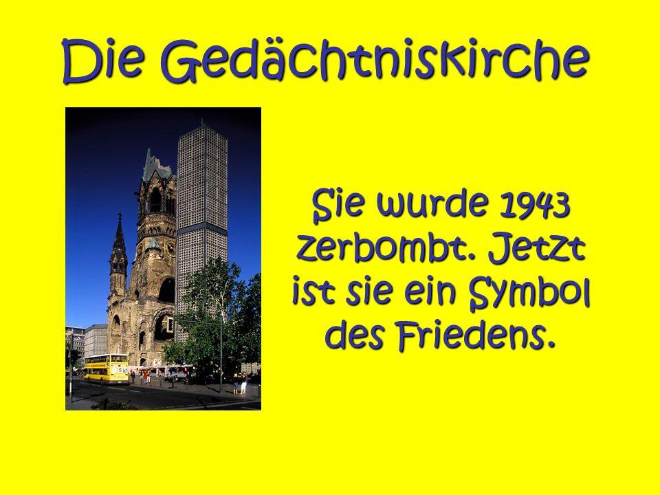 Sie wurde 1943 zerbombt. Jetzt ist sie ein Symbol des Friedens.