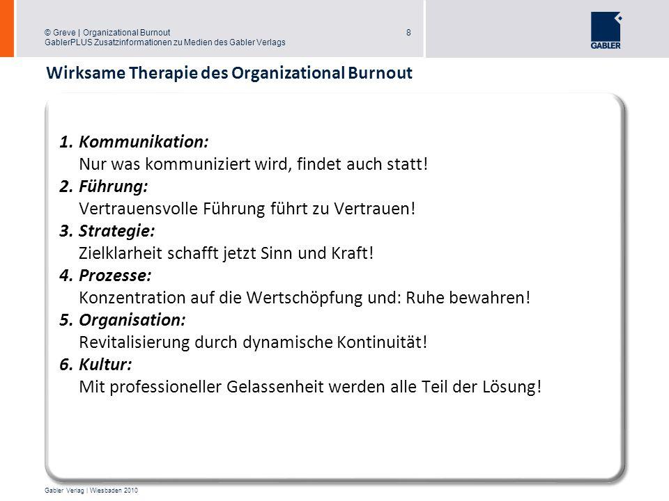 Wirksame Therapie des Organizational Burnout