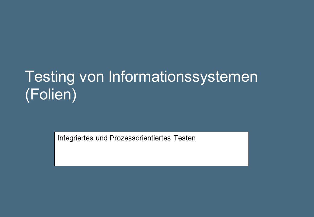 Testing von Informationssystemen (Folien)
