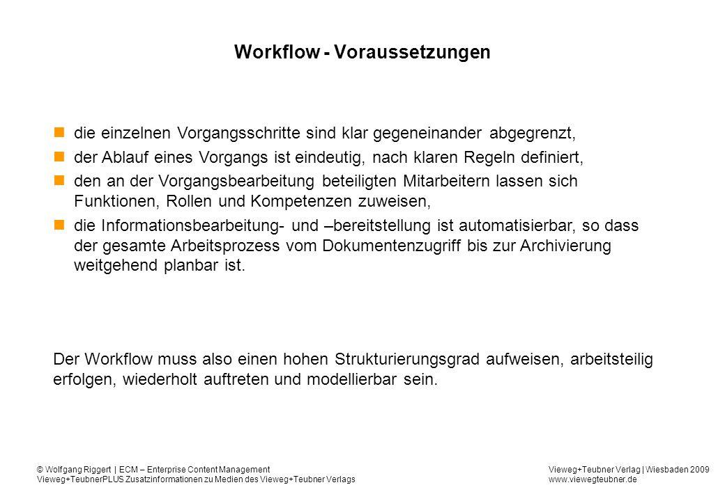Workflow - Voraussetzungen