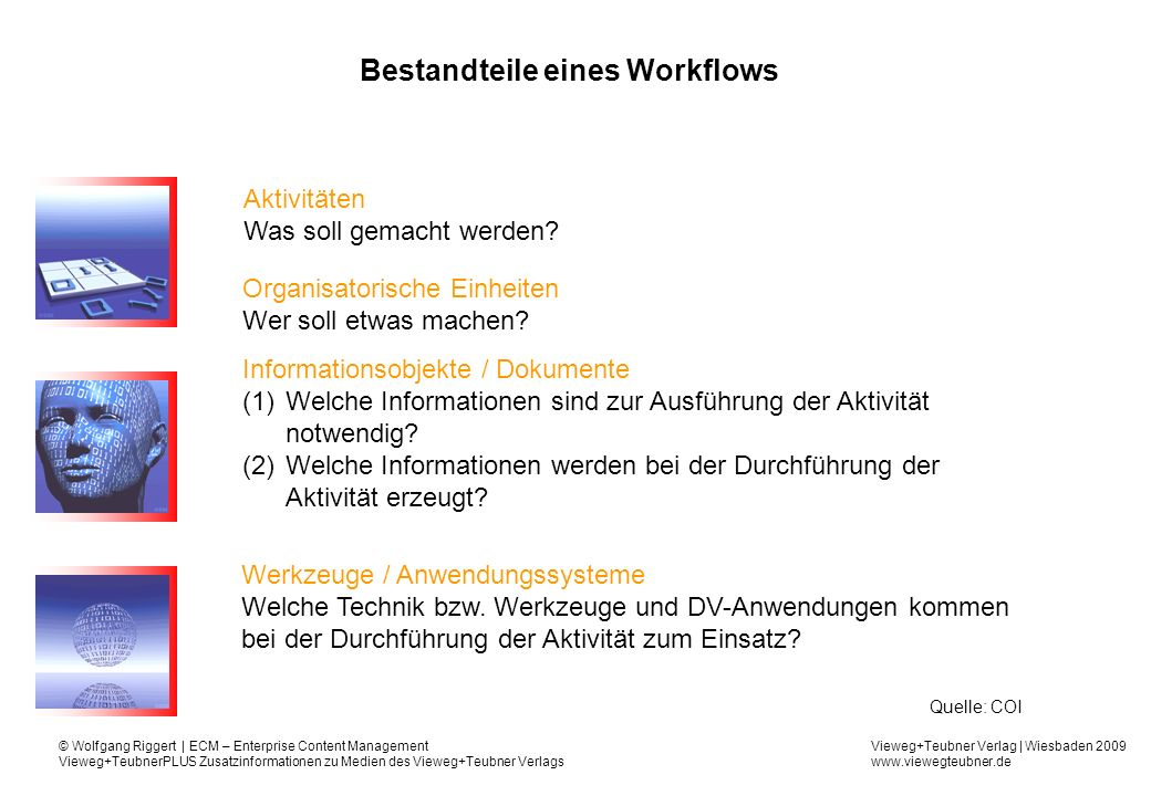Bestandteile eines Workflows