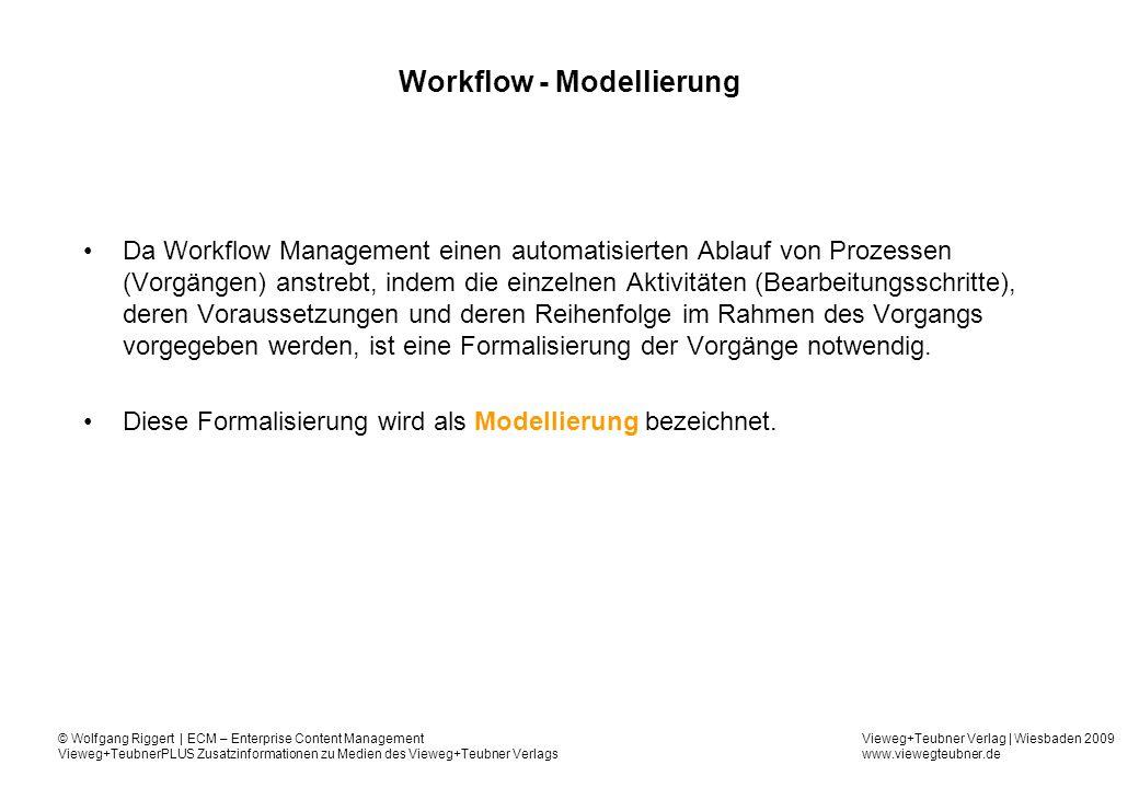 Workflow - Modellierung
