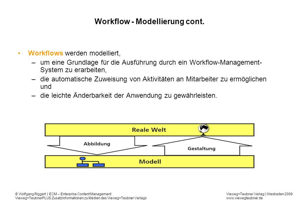 Workflow - Modellierung cont.