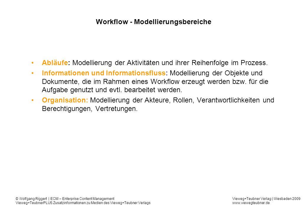 Workflow - Modellierungsbereiche