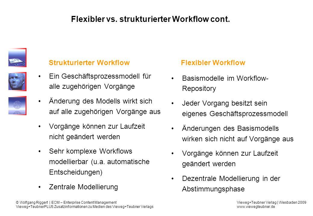 Flexibler vs. strukturierter Workflow cont.