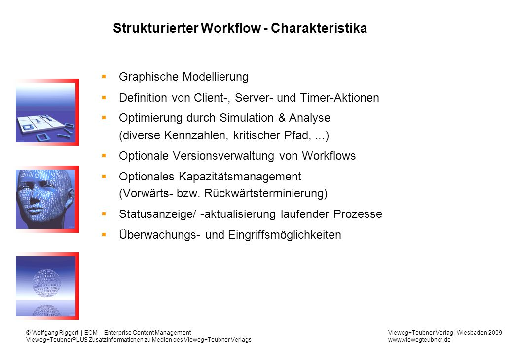 Strukturierter Workflow - Charakteristika