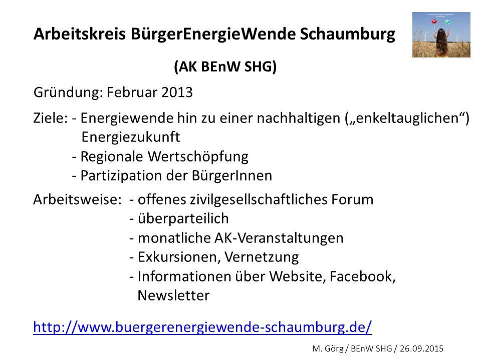 Arbeitskreis BürgerEnergieWende Schaumburg