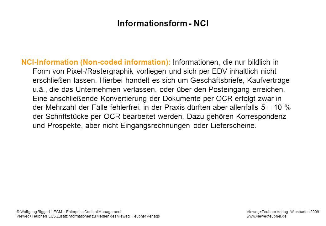 Informationsform - NCI