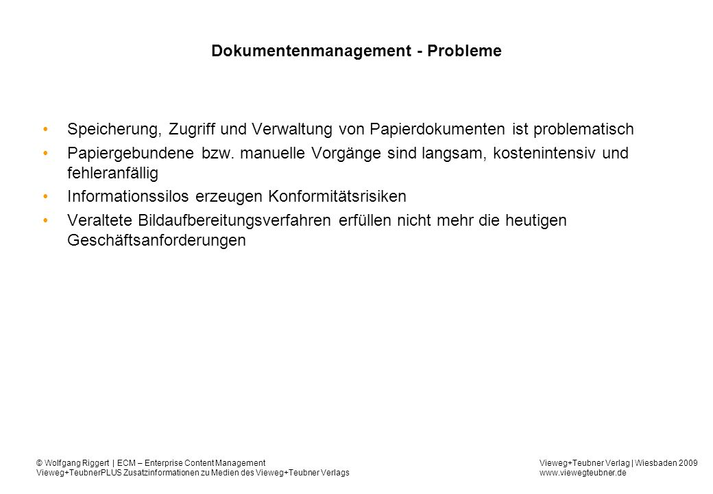 Dokumentenmanagement - Probleme
