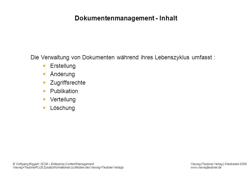 Dokumentenmanagement - Inhalt