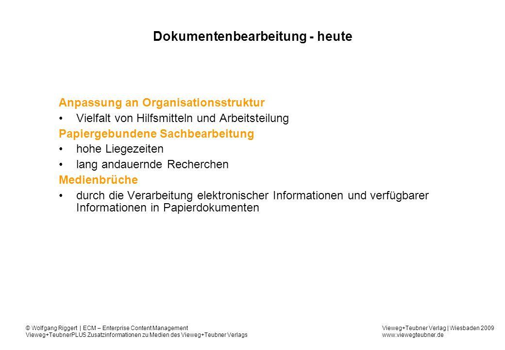 Dokumentenbearbeitung - heute