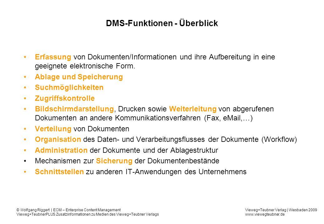 DMS-Funktionen - Überblick