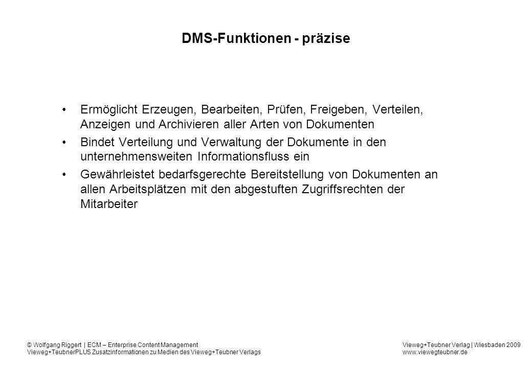 DMS-Funktionen - präzise