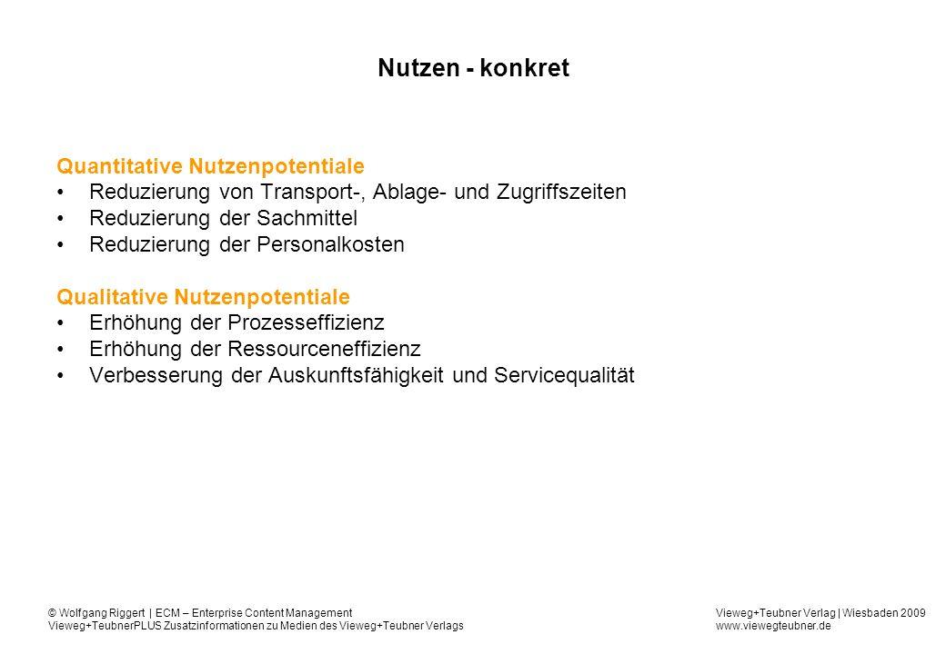 Nutzen - konkret Quantitative Nutzenpotentiale