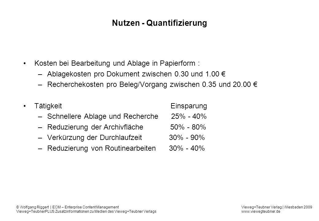 Nutzen - Quantifizierung