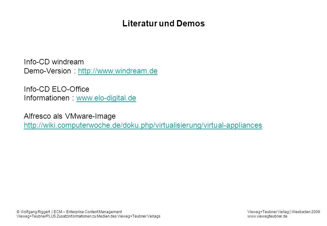 Literatur und Demos Info-CD windream