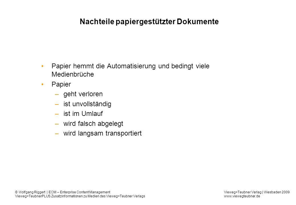 Nachteile papiergestützter Dokumente