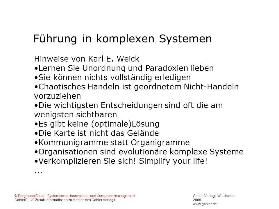 Führung in komplexen Systemen