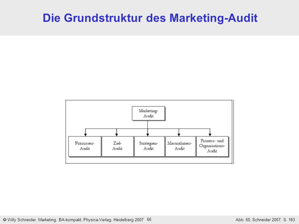 Die Grundstruktur des Marketing-Audit