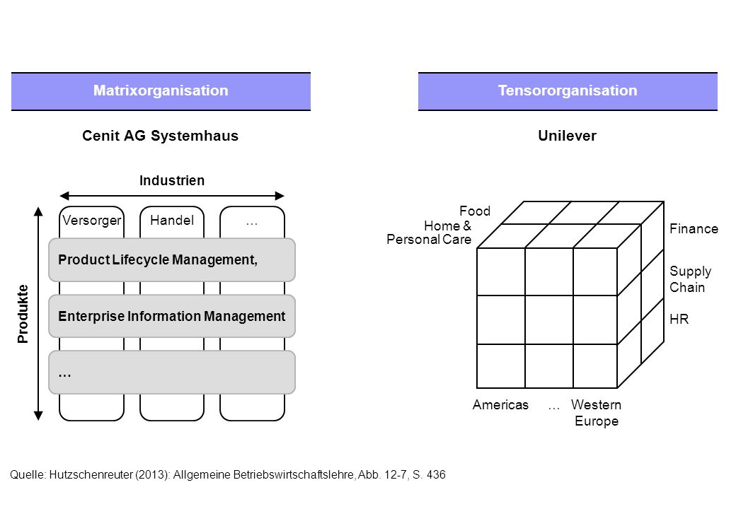 Unilever Matrixorganisation Tensororganisation Cenit AG Systemhaus