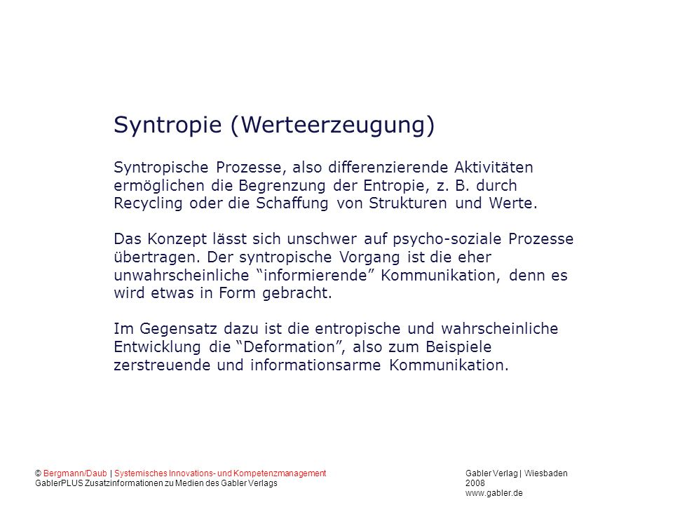 Syntropie (Werteerzeugung)