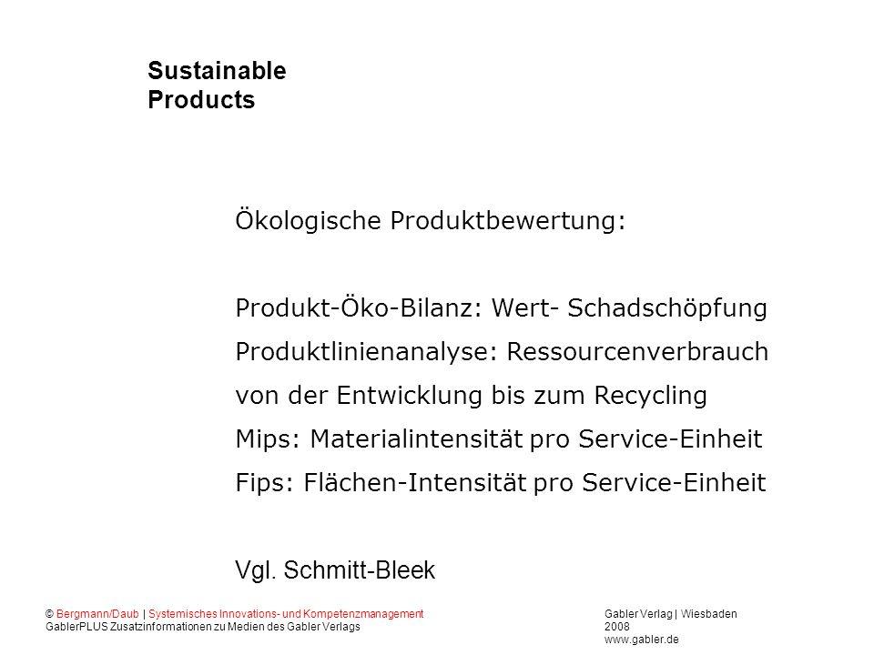 Ökologische Produktbewertung:
