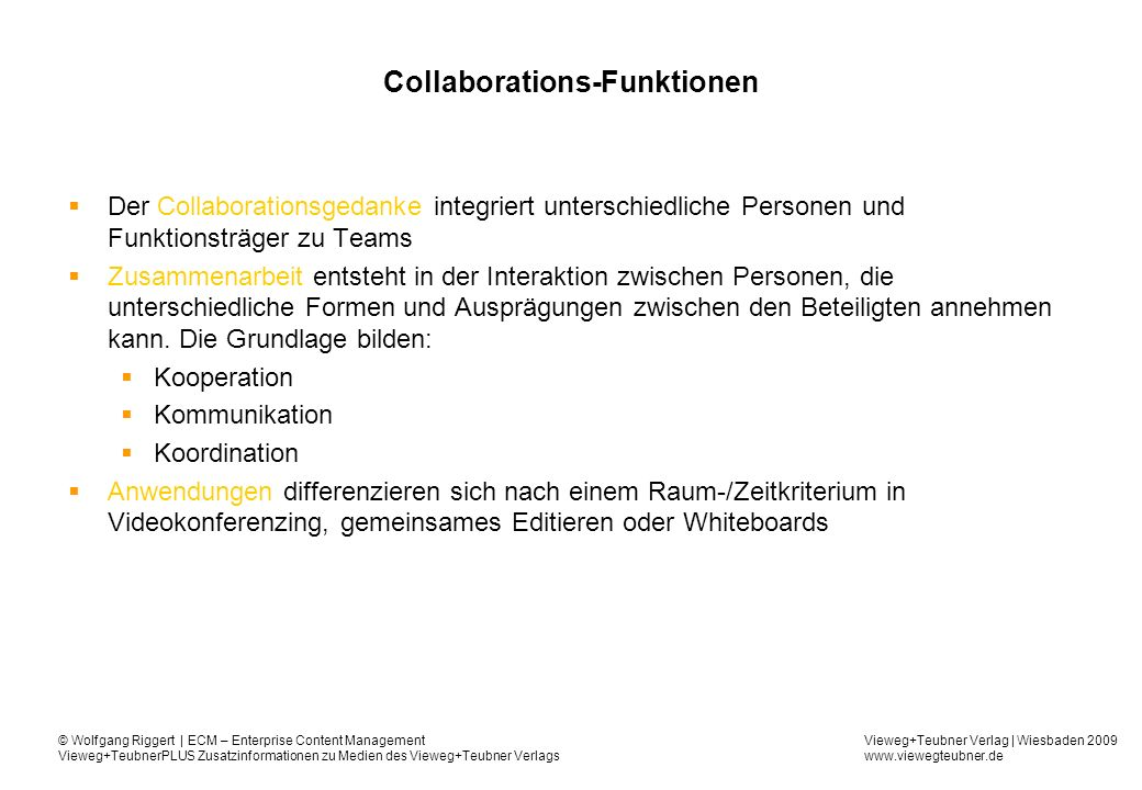 Collaborations-Funktionen