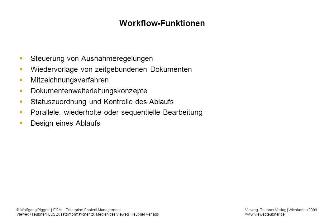 Workflow-Funktionen Steuerung von Ausnahmeregelungen