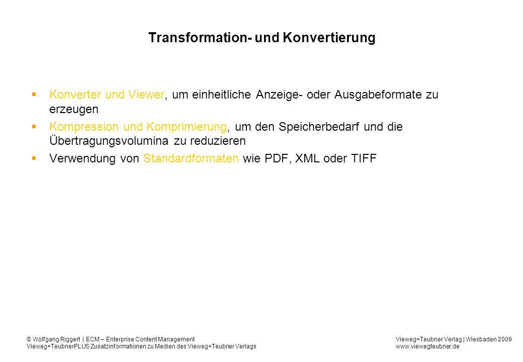 Transformation- und Konvertierung