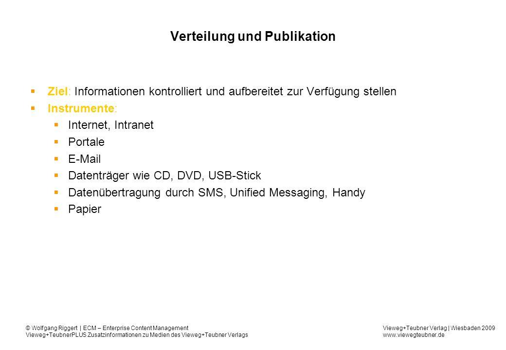 Verteilung und Publikation