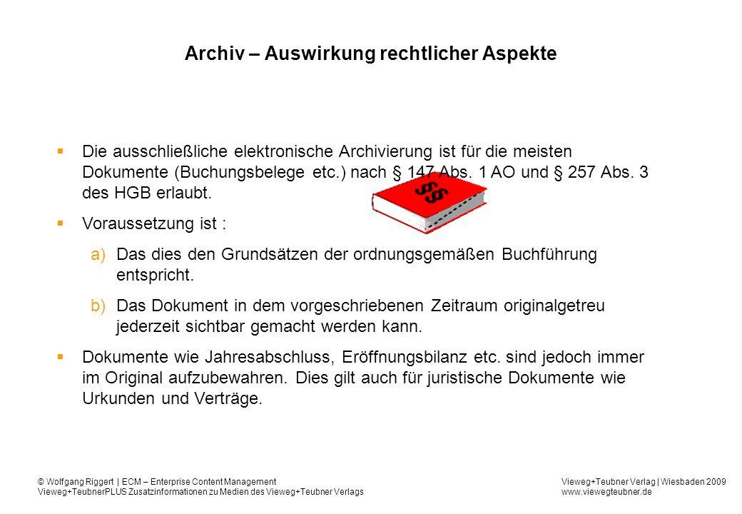 Archiv – Auswirkung rechtlicher Aspekte