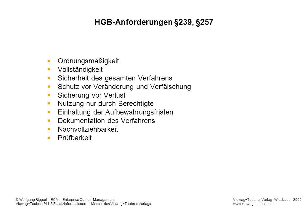 HGB-Anforderungen §239, §257 Ordnungsmäßigkeit Vollständigkeit